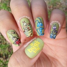 A BUG'S LIFE by 101nailfreak  #nail #nails #nailart