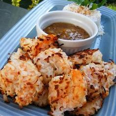 """Baked Coconut Shrimp 