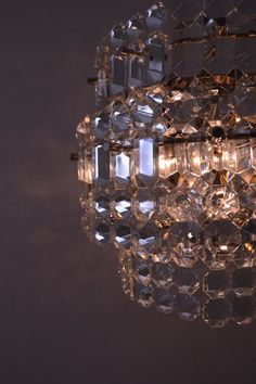 Vintage chandelier  Mid-century crystal by RussianVintageHouse