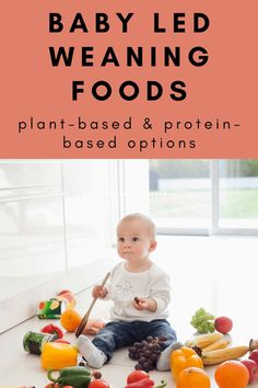 Baby Led Weaning Foods - [A Guide to the Best Options] Baby led weaning is a healthy and fun way to introduce solids to your baby at the age of six months or older and these foods are a great place to start. #blw #babyledweaning #blwfoods via @rookiemoms Baby Led Weaning Breakfast, Baby Weaning, Weaning Toddler, Toddler Finger Foods, Toddler Meals, Lactation Recipes, Lactation Cookies, Weaning Foods, Baby Food Recipes