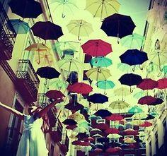 Joy of Umbrellas with No Rain Umbrella Photography, Color Photography, Amazing Photography, Color Fly, Vintage Umbrella, Umbrella Art, Colorful Umbrellas, Under My Umbrella, No Rain