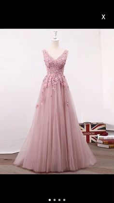 Prom Dress Princess, Pink v neck lace tulle long prom dress, pink evening dress Shop ball gown prom dresses and gowns and become a princess on prom night. prom ball gowns in every size, from juniors to plus size. Floral Prom Dresses, V Neck Prom Dresses, Prom Dresses For Teens, Tulle Prom Dress, Prom Party Dresses, Pretty Dresses, Homecoming Dresses, Bridesmaid Dresses, Pink Dresses