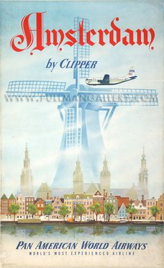 Amsterdam for Pan American World Airways..