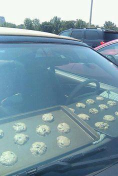 ECOLOGIE : Profitez de la canicule ! Grâce aux voitures équipées d'un four solaire, vous pourrez désormais faire cuire vos pâtisseries en rien de temps !