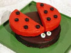 DIY ladybug cake with instructions from The Food Network.