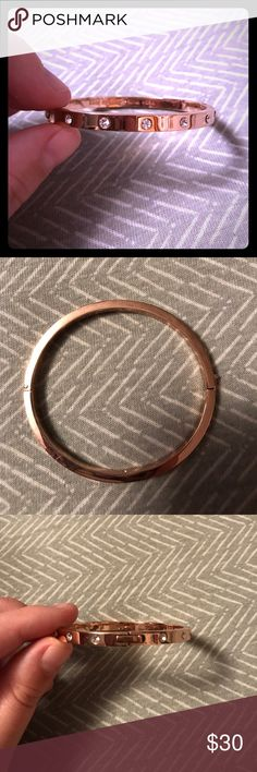 Kate Spade bangle No flaws. Stones all the way around, clasp on one side. No trades. kate spade Jewelry Bracelets