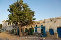 People outside their house, Berbera, Somaliland, Somalia