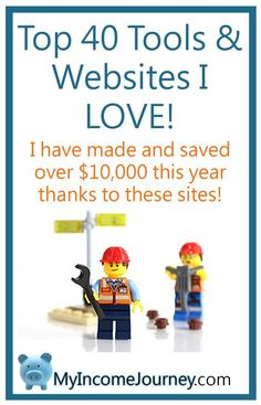 Top 40 Tools and websites I love and use to make money and save money from home! See how I've used these resources to save and make over $10,000 in less than a year! blogging, photography, books, websites, blogs, resources, tools, recommendations, myincomejourney.com