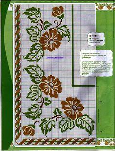 Cross Stitch Borders, Cross Stitch Flowers, Cross Stitch Charts, Cross Stitching, Cross Stitch Embroidery, Embroidery Patterns, Hand Embroidery, Cross Stitch Patterns, Swedish Weaving