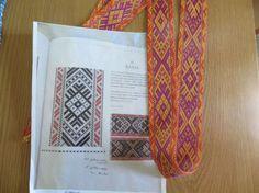 Estonian pattern woven on inkle