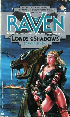 """Raven 4: Lords of the Shadows"" (Author Richard Kirk) 1987 - Cover Illustration by Luis Royo"