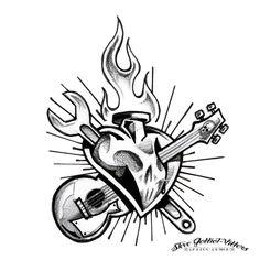 Rock n Roll Heart by SteveGolliotVillers