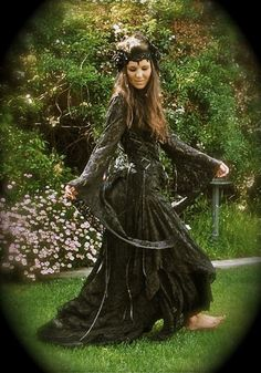 Fairy Gothic Medieval Lace & Velvet Set Custom