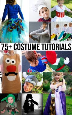 Check out all the Halloween costume tutorials! If you need to know how to make a Halloween or dress up costume of any kind this is the place to look! Costume Halloween, Costume Carnaval, Halloween Kids, Halloween Crafts, Dress Up Costumes, Diy Costumes, Costume Ideas, Sewing For Kids, Diy For Kids