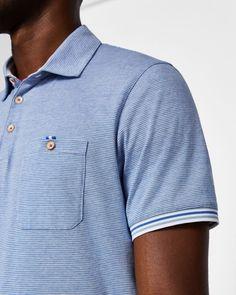 Shorts de Bain Pour Homme   Maillots de Bain   Ted Baker FR. Stripe detail cotton  polo ... 8f1d4f12c77