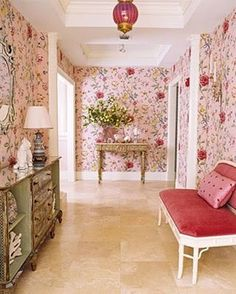 "1,290 Likes, 18 Comments - Andrea (@theglampad) on Instagram: ""Pretty in pink, by @mwhaleyinteriors via @housebeautiful circa 2006. 💗💖💗 Such a #timelessclassic,…"""