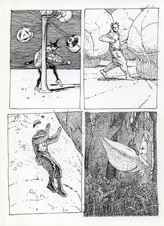 The Art of Moebius Jean Giraud, Manado, Graphic Design Illustration, Illustration Art, Moebius Art, Book Of Kells, Statues, Black And White Drawing, Environment Concept Art