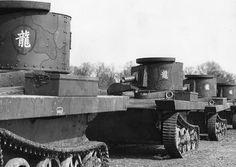 Chinese Army Light Amphibious Tanks 1930s.