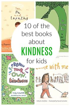 Books about Kindness for Kids Kindness For Kids, Books About Kindness, Teaching Kindness, World Kindness Day, Kindness Activities, Book Activities, Cool Books, I Love Books, Empathetic People