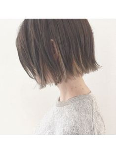 インナーカラーとオリジナルグレーの切りっぱなしボブ【Baco.】 Short Hair Tomboy, Asian Short Hair, Short Hair With Bangs, Girl Short Hair, Underdye Hair, Silky Smooth Hair, Candy Hair, Shot Hair Styles, Hair Arrange