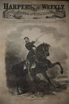 5 23 1863 Harper's Weekly Civil War Newspaper The Battle at Chancellorsville