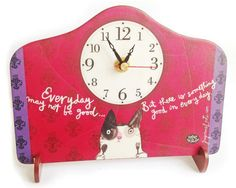 Desk Clock, Recycling, Day, Paper, Home Decor, Clock Table, Decoration Home, Room Decor, Upcycle