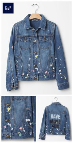 GapKids x ED artist denim jacket - Make a (style) statement with our limited time GapKids x ED collection, a collaboration with Ellen DeGeneres lifestyle brand created to help empower girls everywhere.