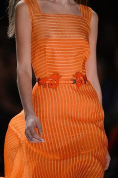 Orange in Carolina Herrera S/S 2013 Carolina Herrera, Coral Orange, Orange Color, Orange Style, Orange Zest, Yellow, Glamorous Chic Life, Orange Aesthetic, Orange You Glad