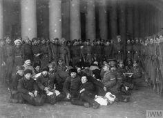 WWI, Russia, March 1917; A group of Gendarmes (police) who have been arrested in the Duma. ©IWM HU 52734