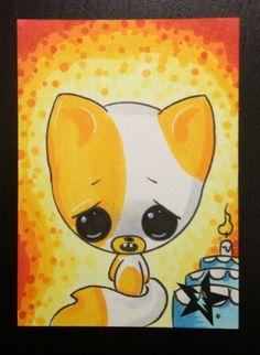 Sugar Fueled Cake Adventure Time cat lowbrow by Sugarfueledart, $4.00