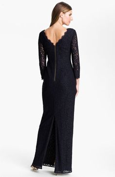 Adrianna Papell Scalloped Lace Gown | Nordstrom