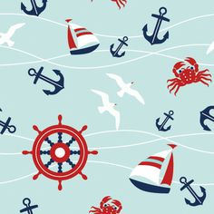 Marine Pattern by Print a Wallpaper