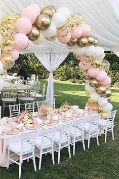 Go to this site quinceanera party planning Pink Balloons, Wedding Balloons, Latex Balloons, Princess Balloons, Balloons Galore, Gold Confetti Balloons, Birthday Balloon Decorations, Wedding Decorations, Party Decoration Ideas