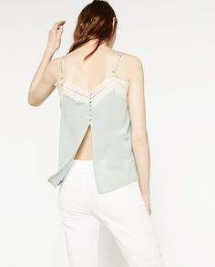 Image 3 of SILK CAMISOLE TOP from Zara