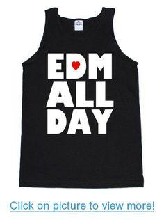 FTD Apparel Men's EDM ALL DAY Rave Concert Tank Top