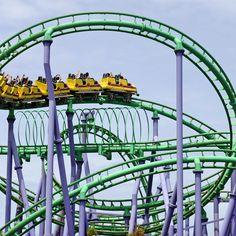 Joker's Jinx at #SixFlags America. #rollercoaster #themeparks