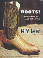 Hyer Boots Since 1875 1972 Ad Picture