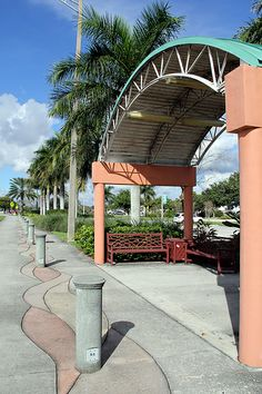 Bus stop in front of Community Center, Coconut Creek