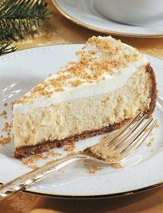 The spicy, comforting flavors of apple cider are reinvented in cheesecake form! The apple-flavored filling is a refreshing change of pace from traditional cheesecake, and the sour cream topping makes a nice contrast. Look for mulling spices in the tea or spice aisle of your grocery store.