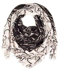 Hunt Slonem buns on a scarf