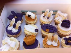 Handbag and shoes cupcakes by cakes for takes