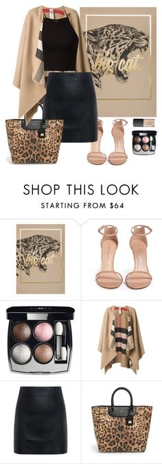 """""""LEOPARD"""" by consuelor on Polyvore featuring Mode, Stuart Weitzman, Chanel, Burberry, McQ by Alexander McQueen, Dolce&Gabbana und NARS Cosmetics"""