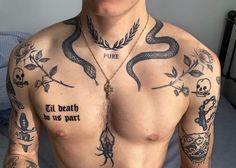 Dope Tattoos, Torso Tattoos, Stomach Tattoos, Bild Tattoos, Sleeve Tattoos, Star Tattoos, Tattos, Hals Tattoo Mann, Tattoo Hals