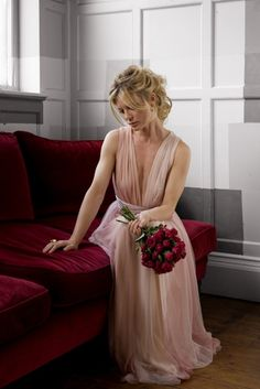 Lovely pink wedding gown...Vow Renewal dress idea but in a different color. Not a fan of pink