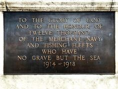 The Tower Hill Memorial commemorates men and women of the Merchant Navy and fishing fleet who died in the First World War and have no known grave. #uk #london #towerhill #toweroflondon #war #ww1 #navy #merchantnavy #plaque #history #respect #honour #remember #1914 #1918 #iphoneonly #dayout #tourist #men #women by tony_campbell113