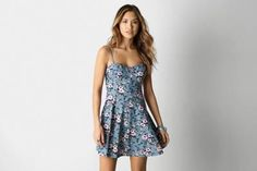 this is so pretty, i wish ae dresses fit me! AEO Printed Corset Dress by AEO