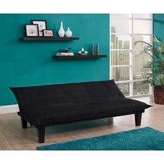 Sofa Bed Sleeper Futon Couch Convertible Modern Living Room Furniture Black New Ikea Futon, Futon Chair Bed, Futon Bedroom, Sofa Couch Bed, Sleeper Couch, Teen Bedroom, Bedroom Ideas, Bedroom Decor, Mattress Frame