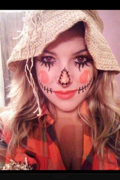 Cute scarecrow makeup why hello my halloween costume!