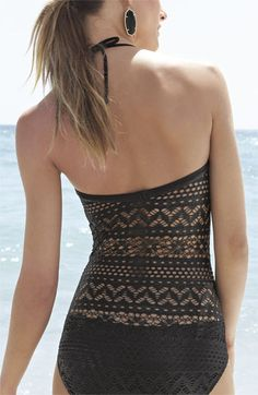 sweet suit. love the back of this crocheted one piece!