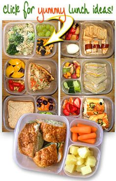 lunch ideas can't believe I didn't think of tupperware like this great idea